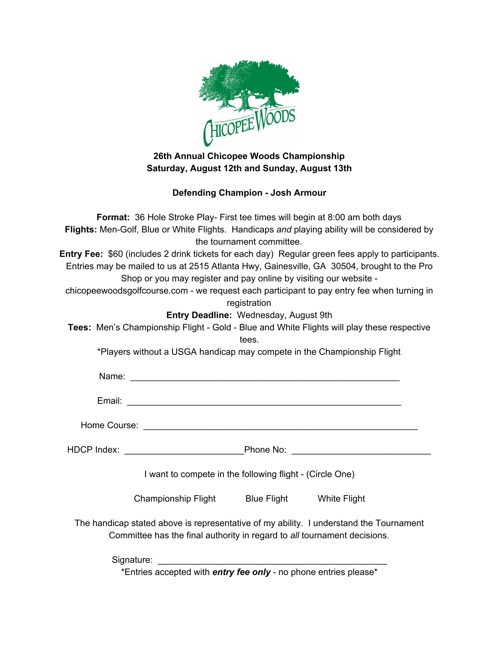 26th Annual Chicopee Woods Championship-1
