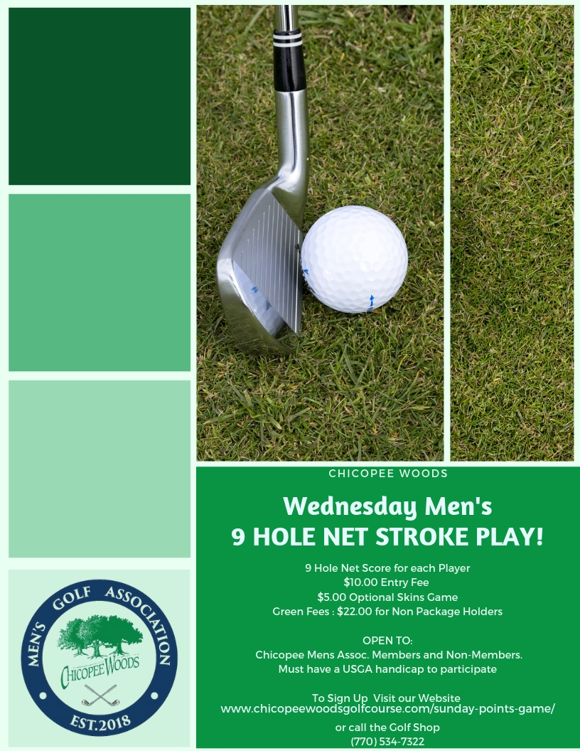 CW - Men's Wed 9 hole points game 2019